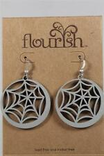 Flourish by Enesco Nat Elements 'Web Earrings' Halloween #4034257 NEW!