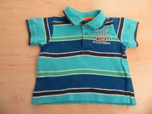 T-Shirt, Polohemd für Jungen, Gr. 74, blau-türkis