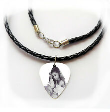 ARIANA GRANDE guitar pick plectrum braided LEATHER NECKLACE 20""