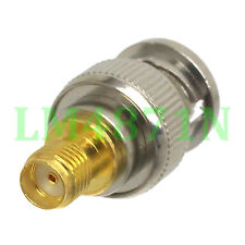 1pce Adapter BNC plug male to SMA female jack RF connector straight
