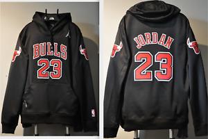 Michael Jordan Chicago Bulls NBA Jersey Hooded Sweatshirt Embroidered Hoodie