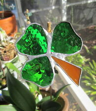 """Stained Glass Suncatcher """"Shamrock"""" by Barb's Design"""