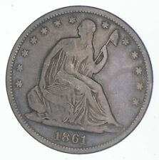 1861-S Seated Liberty Half Dollar - Charles Coin Collection *954