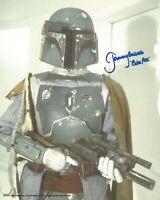 Jeremy Bulloch Boba Fett Star Wars hand signed photo incls Photo proof UACC COA