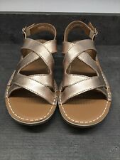Clarks Artisan Sandals, Size 7D(41), Gold Metallic, New & Unused With Labels