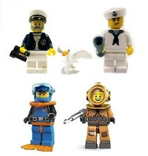 Sealed 4X Lego SERIES 10 8 4 1 CAPTAIN DEEP SEA DIVER SAILOR OCEAN MARINER SHIP