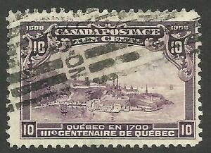 Canada 101 10c Quebec Tercentenary.  V-VF. Ottawa roller cancel