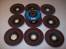 """10  4-1/2"""" ANGLE GRINDER SANDING FLAP DISC 40 GRIT"""