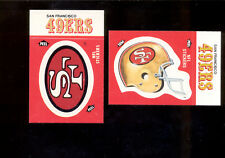 1988 Fleer Action San Francisco 49ers Helmet & Logo Sticker Set Mint