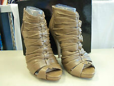 Boutique 9 New Womens Tultra Medium Brown Leather Heels 10 M Shoes