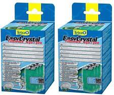 2 X Tetra Tetratec fácil Cristal Filtro de carbón Pack C 250 de 300 easycrystal Filtro.