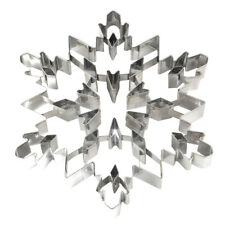 Large 3D Snowflake Snow Cake Cookie Cutter Stainless Steel Mold Baking Biscuit