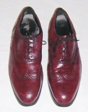 FRENCH SHRINER BROWN LEATHER SHOES 11.5M mens WINGTIP OXFORD LACE UP DRESS-TECH
