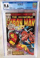 Iron Man #109 Marvel 1978 Bronze NEWSSTAND CGC 9.6 NM+ White Pages - Comic I0083
