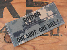 SNAKE PATCH - SNIPER one shot one kill M24 M700 - ACU DIGITAL - FANTAISIE
