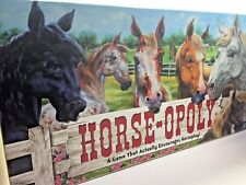 Horse-opoly Property Trading Game Horseopoly Complete Monopoly USA Made (A1)