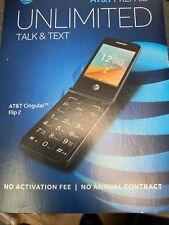 New Unlocked Alcatel Cingular Flip 2 Ot-4044O At&T 4G lte WiFi Basic Cell Phone