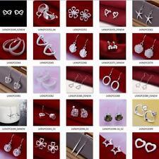 wholesale New 2017 fashion Christmas gift 925Silver earrings