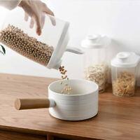 Plastic Cereal Dispenser Storage Box Kitchen Food Grain Rice Container Nice
