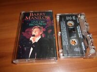 Live On Broadway By Barry Manilow (Cassette 1990 Arista)
