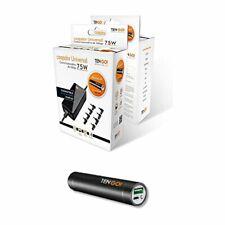 Cargador Universal TenGO 75W para portatil conector coche + Bateria portatil ...