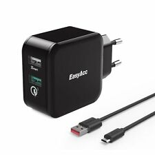 [Quick Charge 3.0] EasyAcc 30W Ladegerät 2 Port Smart Adapter für iPhone,Samsung