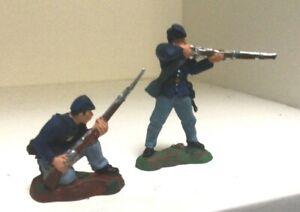 2 American Civil War. Union infantrymen firing. Marksmen UK. 54 mm Toy soldiers