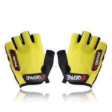 QEPAE Half Finger Non-Slip Gel Pad Gloves Men's Women's Cycling Gloves( yellow )