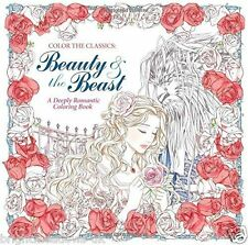 Beauty & the Beast Classic Belle Adult Colouring Book Creative Fairytale Fantasy