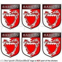 "BAHRAIN Bahraini Shield Mobile Cell Phone Mini  Decals, Stickers 1.6"" (40mm) x6"