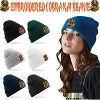 Embroidered Cobra Kai Beanie Karate Kid Hat Headwear Myagi Do Martial Arts MMA