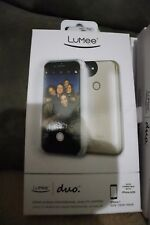 NEW LuMee Duo Dual Sided Light Up Selfie Case - Rose Gold - iPhone 7 and 6/6S