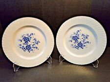 "Wedgwood Royal Blue Ironstone Dinner Plates 10 1/8"" Set of 2 Reduced"