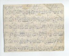 RARE LEE MORGAN ORIGINAL MANUSCRIPT RIVER JORDAN  BLUE NOTE JAZZ BEBOP ORIGINAL