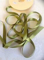 3m of MOSS / olive green Berisfords shade 79 double satin ribbon various widths
