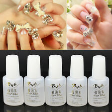 5pcs 10g Nail Art BYB 401 Strong Glue Tips Pro with Brush Professional Set new
