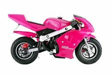 Gas Pocket Bike For Kids Girls Pink 40Cc 4 Stroke Mini Motorcycle Epa Approved
