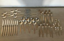 Georg Jensen Sterling Silver 'Cypress' flatware Complete for 8 with 56 pc.