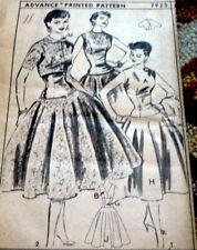 *LOVELY VTG 1950s DRESS & JACKET ADVANCE Sewing Pattern 11/29