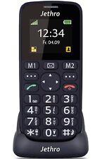 JETHRO [SC118] 2G Unlocked Black Bar Easy Simple Emergency Senior Cell Phone