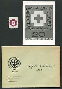 GERMANY FOTO-ESSAY 400 ROTES KREUZ 1963 RED CROSS PHOTO-ESSAY PROOF RARE!! e500
