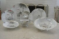 Kutani NS China Hand Painted  One Place Set with 7 Pieces Each