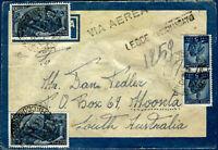 1948 - via Aerea per l'Australia con 2 valori Lire 100 Risorgimento - Carraro