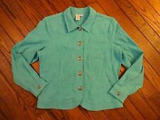 Coldwater Creek Turquoise Blue Stretch Jacket        Size XL