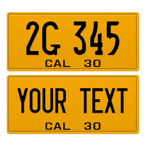 1 x Custom Personalized 1930 California License Plate with YOUR TEXT