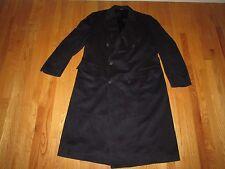 Loro Piana Bill Blass Men's 100% Cashmere Overcoat Size 48 Long Navy Blue 48L