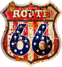 8x7,5 cm Autoaufkleber Route 66 USA Retro Vintage old school Aufkleber Sticker