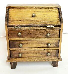 """Concord Dollhouse Miniatures Drop Front Secretary Desk 3 3/4"""""""
