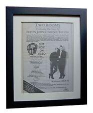 ELTON JOHN+TAUPIN+Two Rooms+POSTER+AD+ORIGINAL 1991+FRAMED+EXPRESS+GLOBAL SHIP