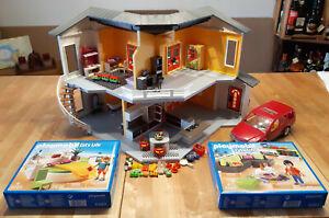 Playmobil 9266 Modernes Wohnhaus komplette Einrichtung Grillkamin Auto Konvolut